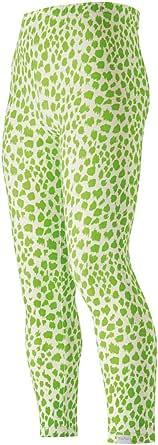 Playshoes Leggings Lang Leopardenmuster Weiß/Grün Niñas