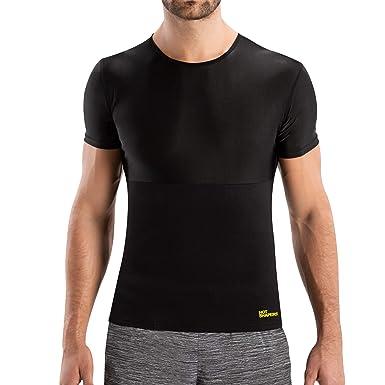 7cb9c2dde5d12 Hot Shapers Cami Hot Men - Sauna Suit Compression Shirt Vest Black ...