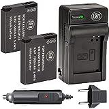 BM Premium Pack of 2 DMW-BCM13E Batteries and Battery Charger for Panasonic Lumix DMC-FT5A, DMC-LZ40, DMC-TS5, DMC-TS6, DMC-T