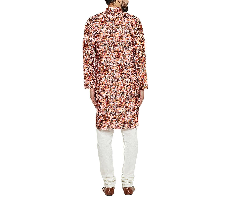 Indian-Traditional-Kurta-Pajama-Set-Shirt-Printed-Men-Kurta-Ethnic-Wear-XS-5XL thumbnail 6