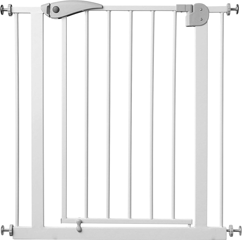 Babify Barrera de Seguridad de niños para puertas y pasillos con cierre automático- color blanco