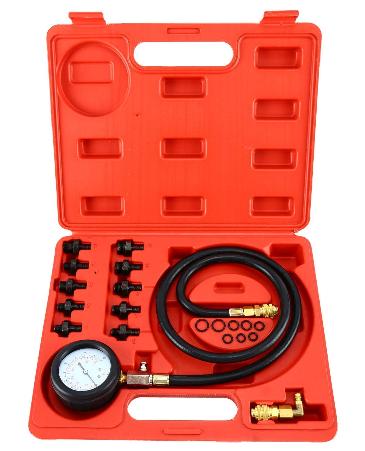 ATP 0-140 PSI Engine Oil Pressure Test Kit Tester Low Oil Warning Devices Gauge