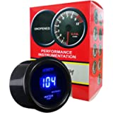 HOTSYSTEM Universal Water Temp Gauge Temperature Meter Electronic Blue Digital LED DC12V 2inches 52mm for Car Automotive…