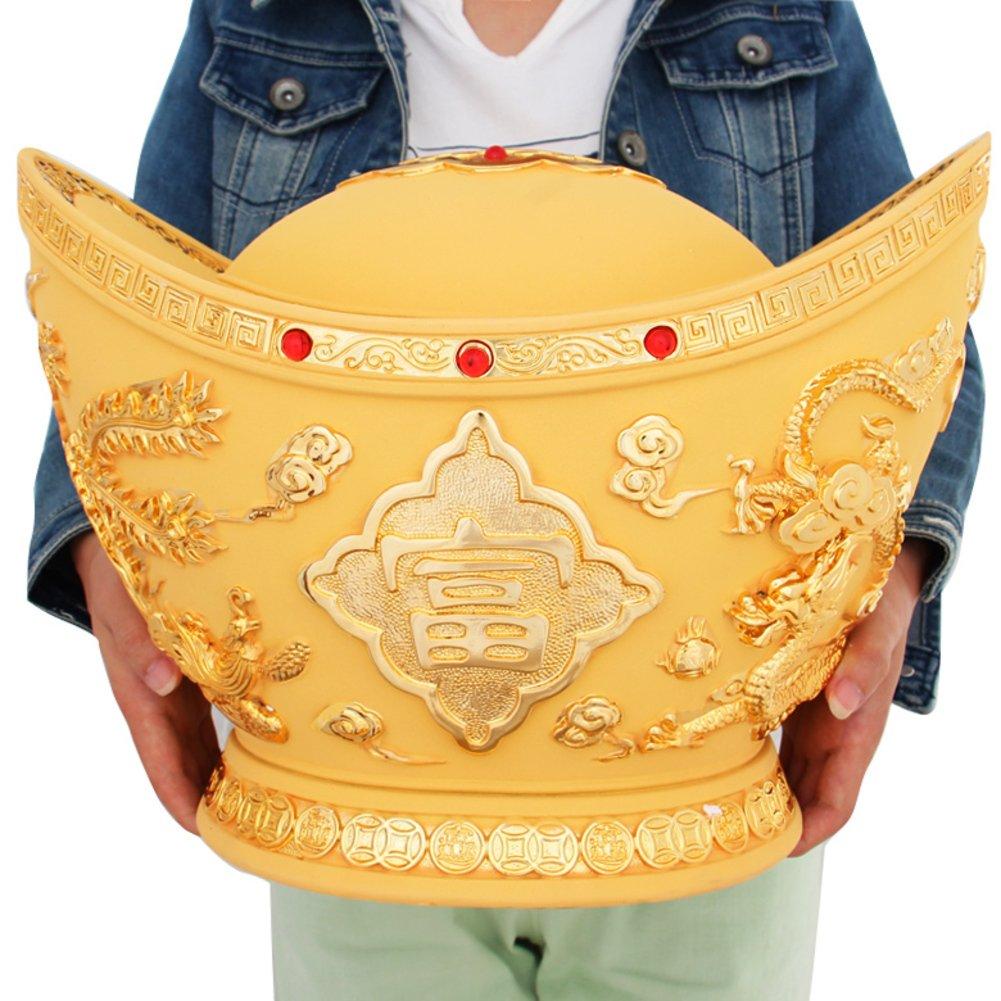 Lucky golden decoration large coin piggy bank golden piggy bank-B 30x22x23cm(12x9x9inch)