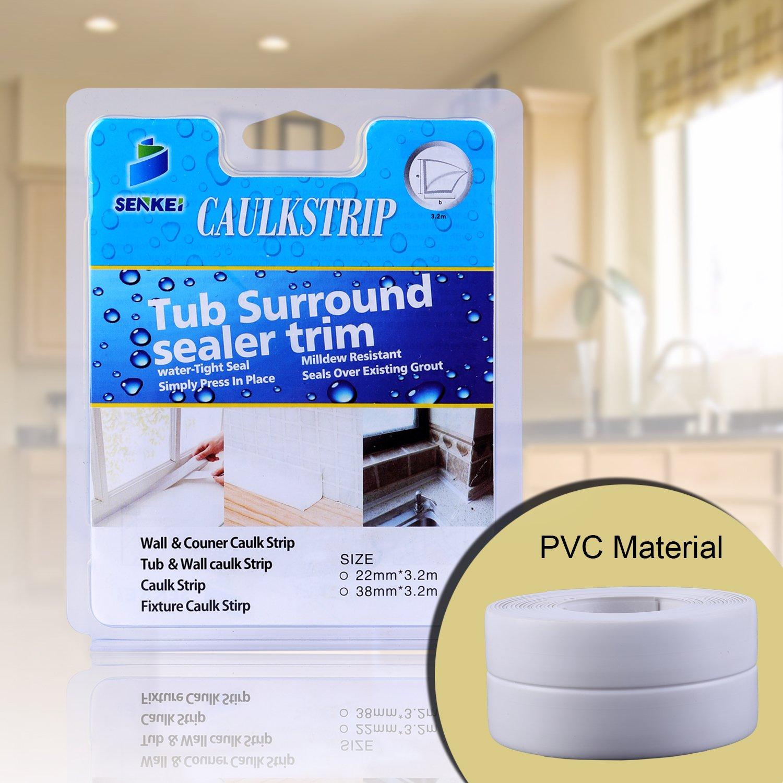 Amazon.com: Caulk Strip, Oumers PVC Strong Self Adhesive 1-1/2\