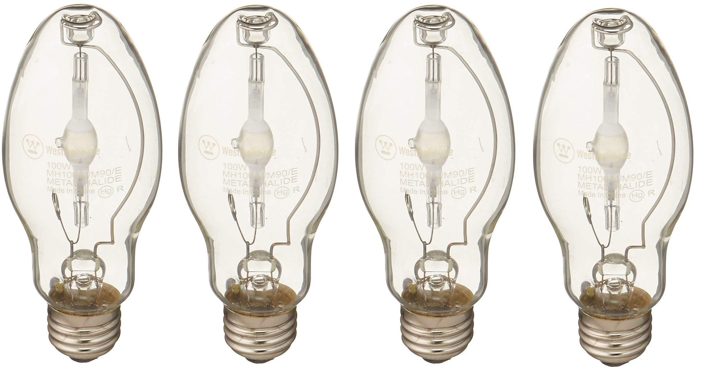 Westinghouse, 100 Watt E26 Medium Base, M90/E ANSI ED17 Metal Halide HID Light Bulb ... (4 Pack)