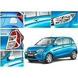 Auto Pearl-Chrome Plated Premium Quality Accessories For - Maruti Suzuki Celerio - Set Of 5 Pcs.