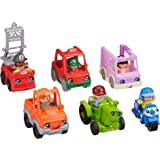 Fisher-Price Little People Friendly Neighborhood Vehicle Gift Set, Toddlers Explore Different Roles People Play in Their Neig