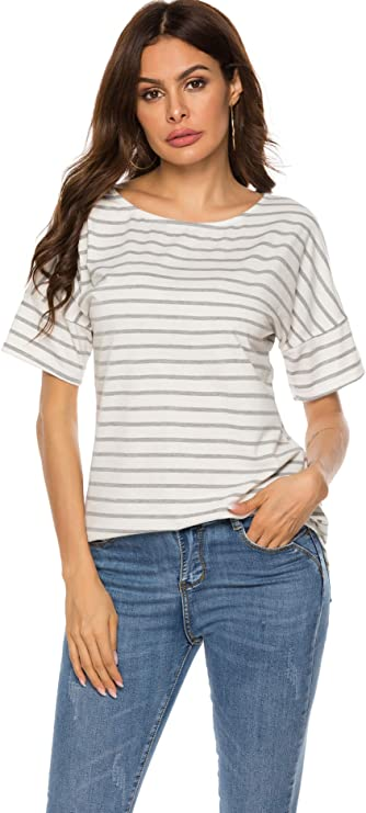 Womens Casual Raglan Short Sleeve