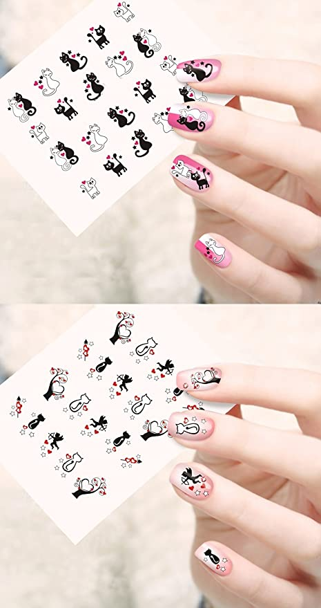 Buy Jenna NR-189 Water Transfer Nail Art Decals Stickers, White ...