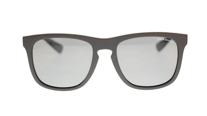 426b11b91ba3 Amazon.com  Armani Exchange AX4058 819981 Matte Black Polar Grey Polarized  Square Mens Sunglasses 55mm Authentic  Clothing
