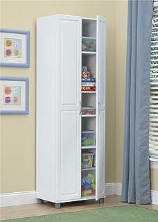 SystemBuild 24  Utility Storage Cabinet White & Amazon.com: Mainstays 4-Shelf Multipurpose Storage Cabinet White ...