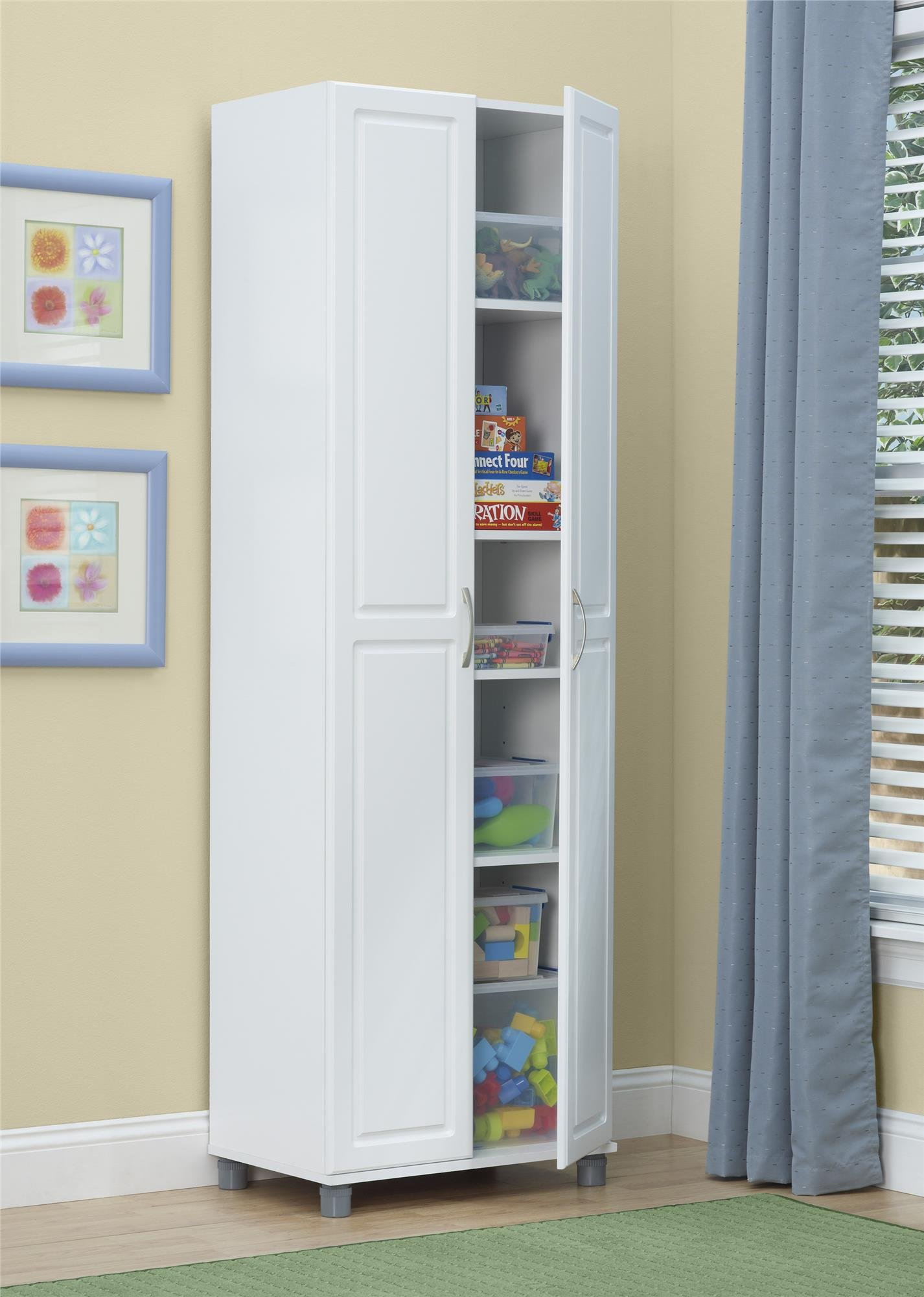 SystemBuild 24'' Utility Storage Cabinet, White