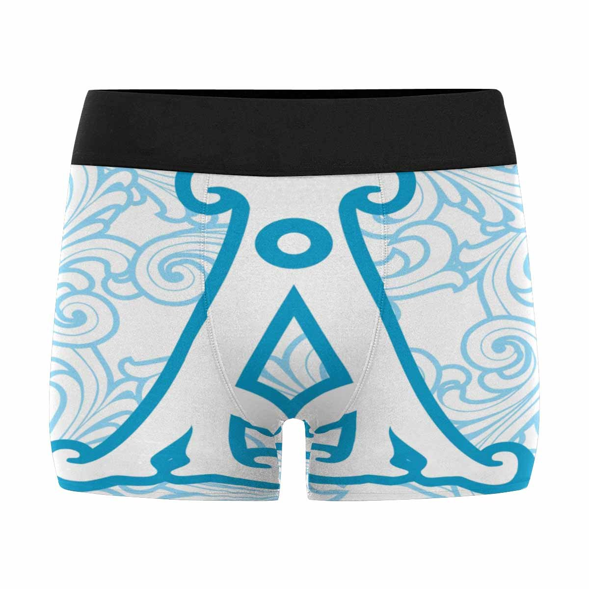 INTERESTPRINT Custom Mens Boxer Briefs Letter A in The Old Winter Vintage Style XS-3XL