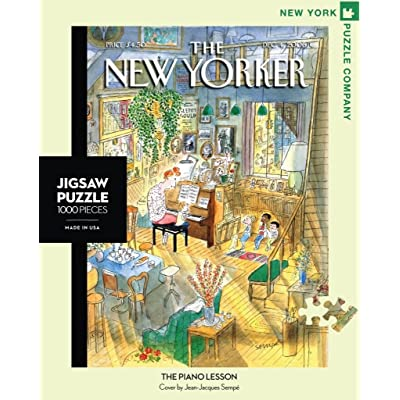 New York Puzzle Company - New Yorker The Piano Lesson - 1000 Piece Jigsaw Puzzle: Toys & Games