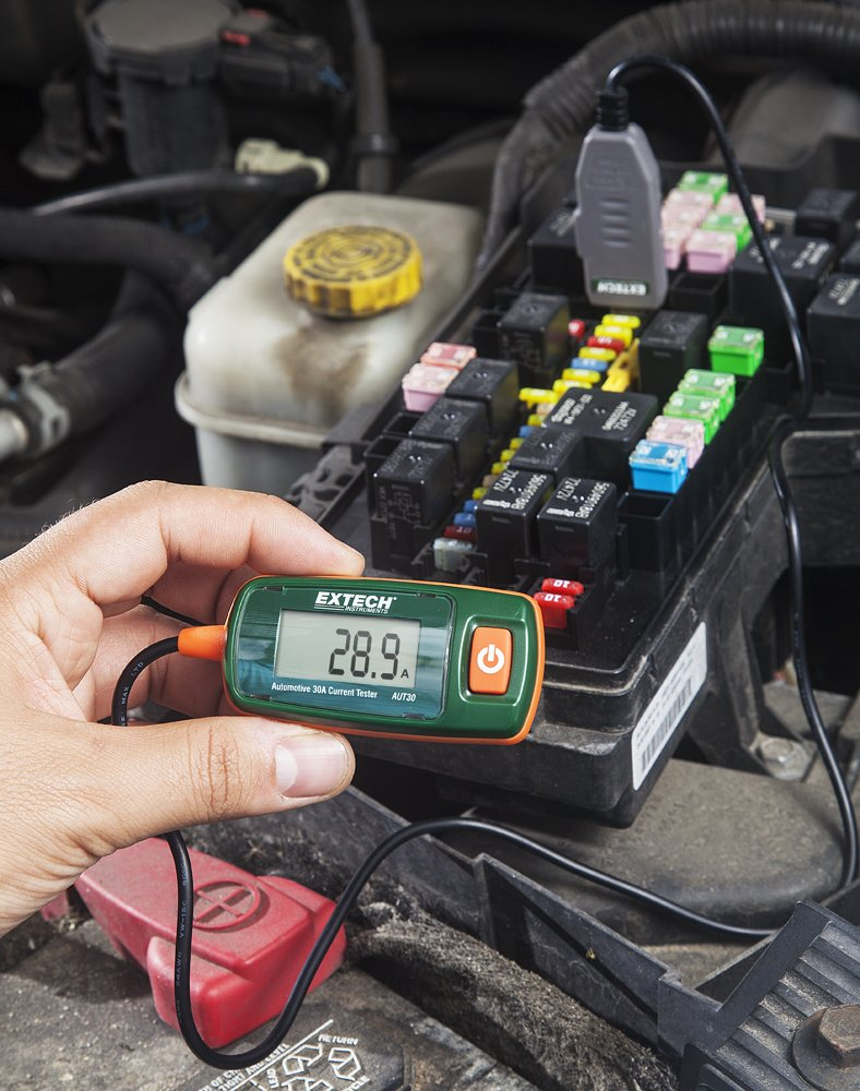 Extech Aut30 Automotive 30a Current Tester With Atc How To Test Car Fuse Box Multimeter Connector Home Improvement