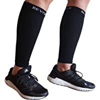 Calf Compression Sleeve Bevisible Sports - Shin Splint Leg Compression Socks for Men & Women - Great for Running…