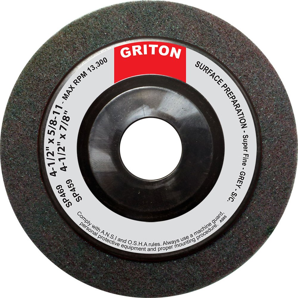 Griton SP459 Silicon Carbide Super Fine Surface Preparation Wheel, 4-1/2'' x 7/8'' (Pack of 10) by Griton