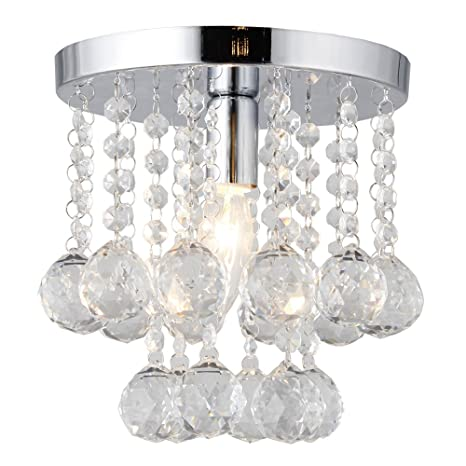 Mini style 8 flush mount crystal light bedroom washroom bathroom mini style 8quot flush mount crystal light bedroom washroom bathroom kitchen aloadofball Image collections