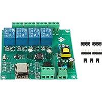 NEYOANN ESP8266 WIFI 4 Channel Relay Module ESP-12F Wifi Development Board for AC/ 5V/8-80V Power Supply