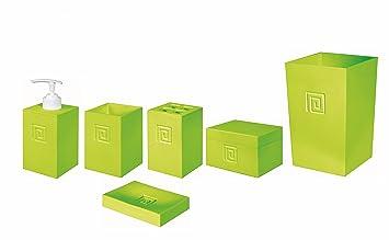 Bad accessoires grün  Bisk 04445 Meander Bad-Accessoires-Set inkl. Eimer, Grün: Amazon ...