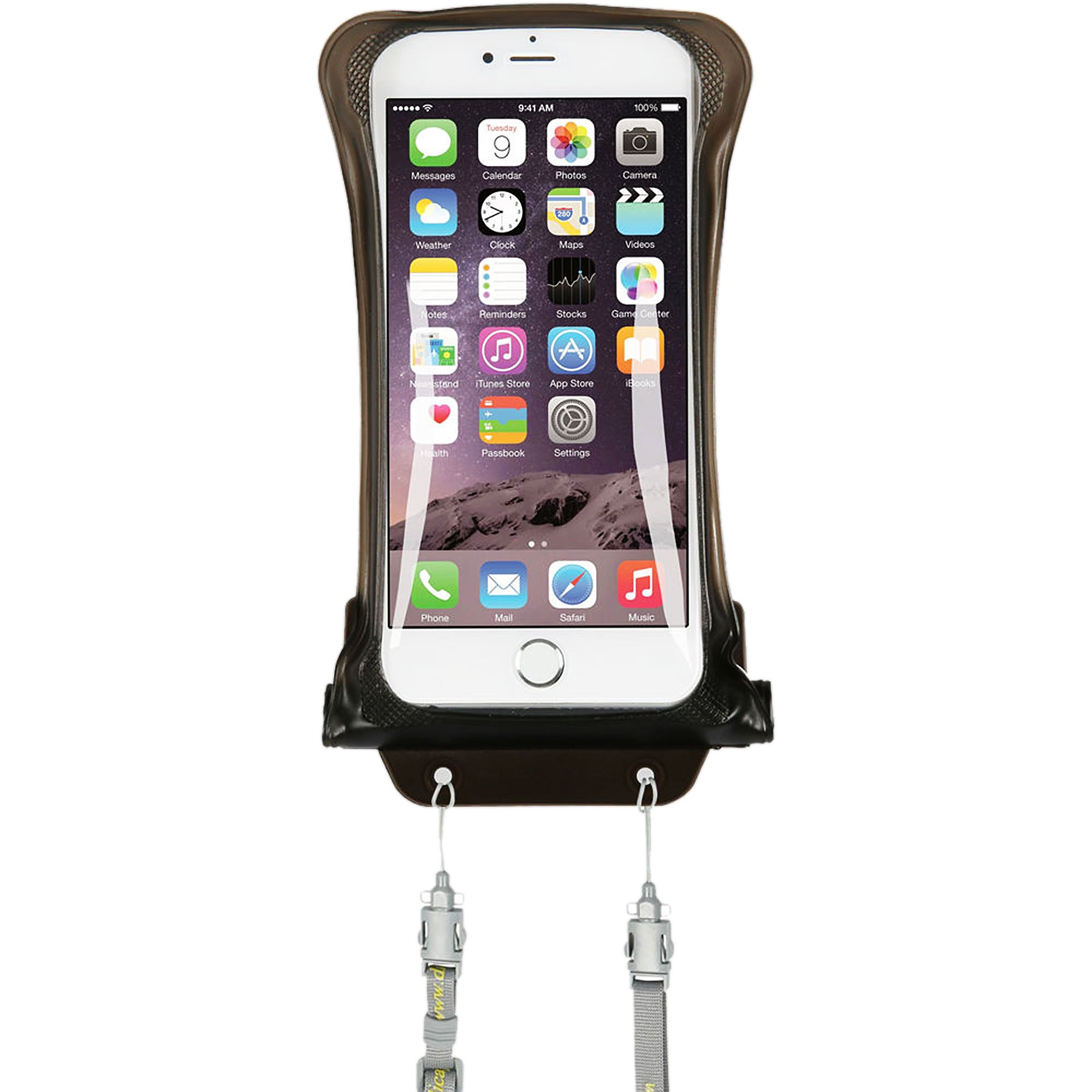 AquaVault Waterproof Floating Smart Phone Case & Money Pouch. Fits All Phones, Dual Layer Shock Absorbing, Includes Neck Strap
