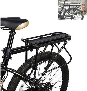 GJZhuan Portaequipajes para Bicicletas De Carga, 90 KG Cargar La Rejilla Trasera Asiento Trasero De La Bicicleta Portaequipajes Bicicleta De Montaña Accesorios para Bicicletas: Amazon.es: Deportes y aire libre