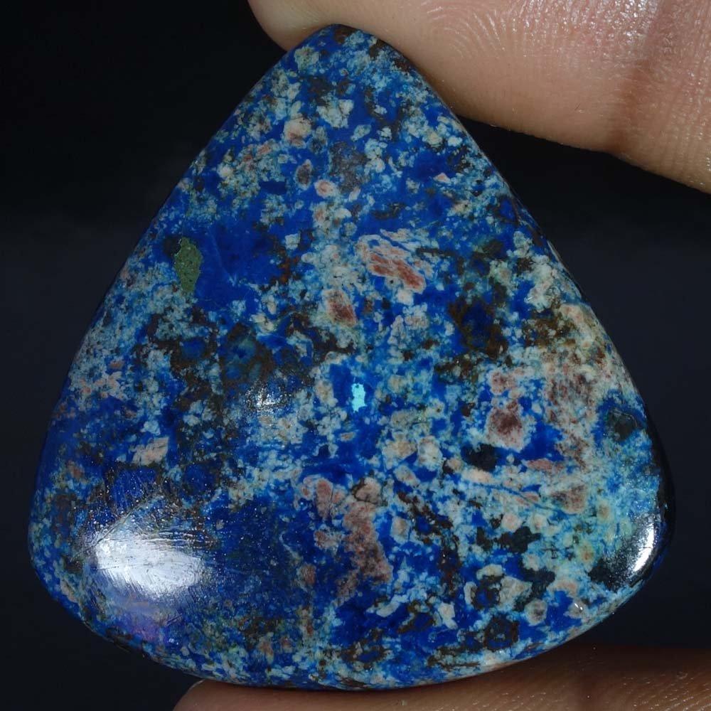 Radheygovind gems 80.35Cts.100% Natural Blue Azurite Pear Cab Fine Quality Loose Gemstones