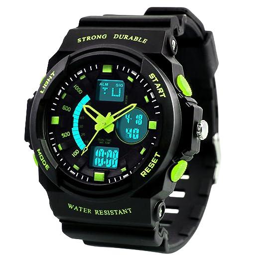 Dictac Reloj Deportivo para Hombre Digital de Cuarzo Múltifuncionales Alarma Calendario Cronómetro Resistente al Agua Pulsera