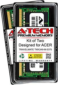 A-Tech 32GB (2 x 16GB) RAM for ACER TRAVELMATE TMX349-M-5375 | DDR4 2133MHz SODIMM PC4-17000 260-Pin Non-ECC Memory Upgrade Kit