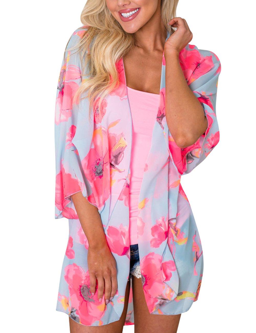 Yonala Summer Womens Beach Wear Cover up Swimwear Beachwear Bikini Cardigan One Size cover ups-001