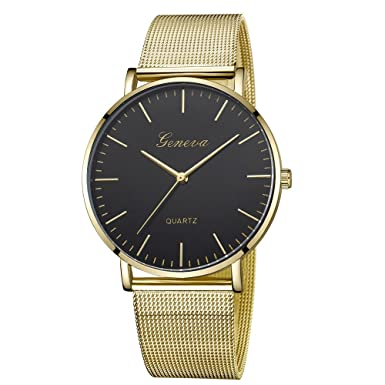 Amazon.com: Womens Mens Watches Clearance Sale,Hengshikeji Analog Quartz Wrist Watches New Casual Luxury Stainless Steel Band Fashion Ladies Watches ...
