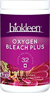 Biokleen Laundry Oxygen Bleach Plus 32 HE Loads - Concentrated Stain Remover, Whitens & Brightens, Eco-Friendly, Non-Toxic, Plant-Based, No Artificial Fragrance or Preservatives, 2 Pounds, 32 Fl Oz