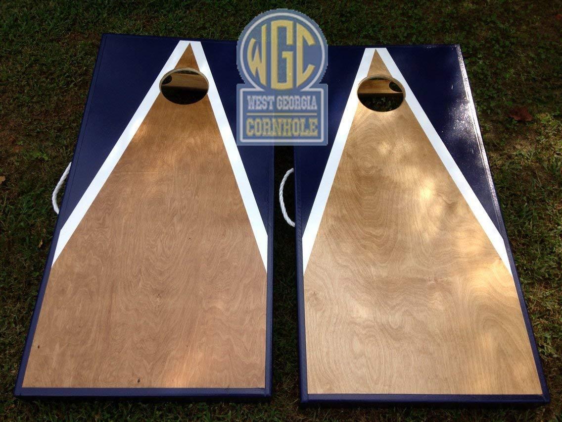 Stained Triangle Custom Cornhole Board Set