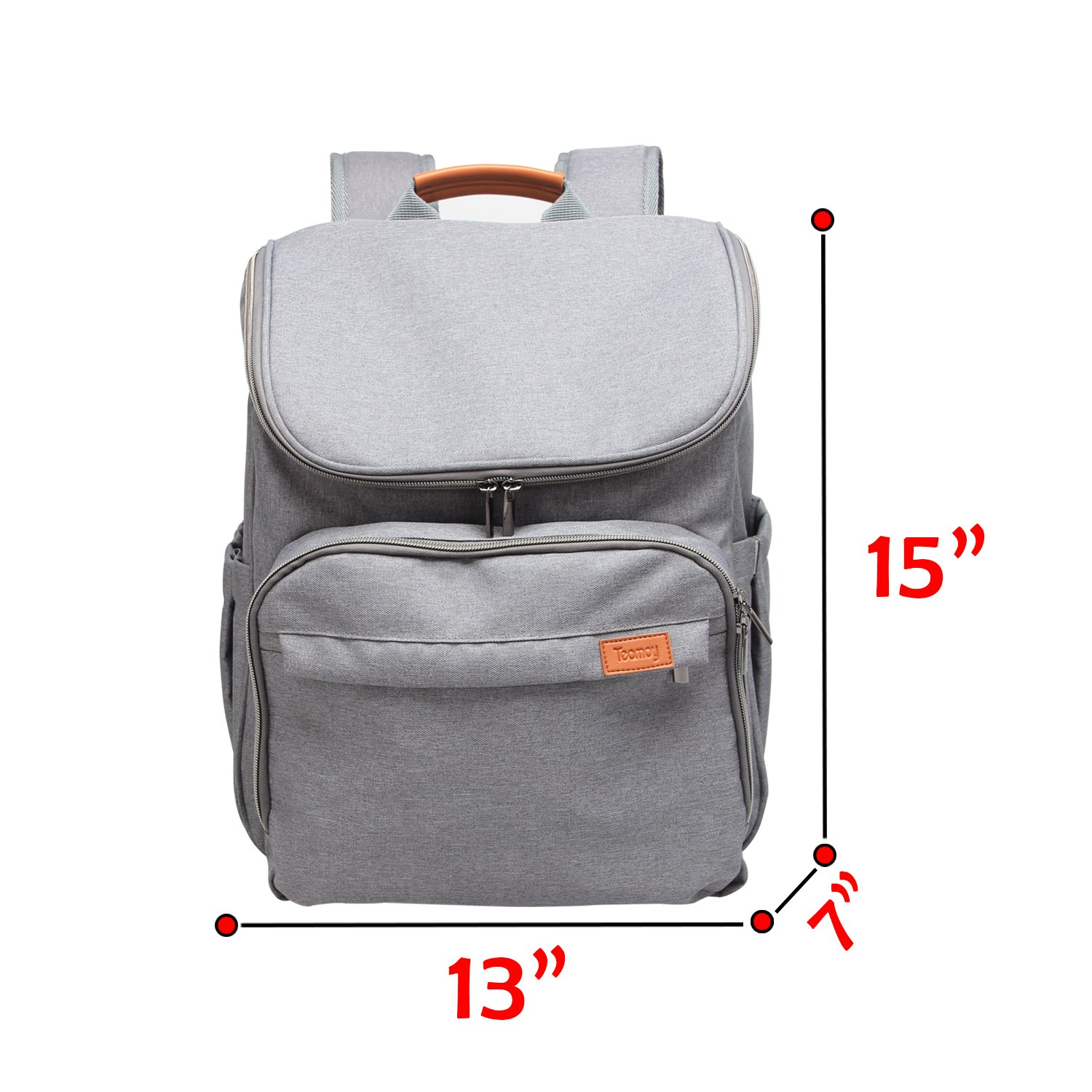 Teamoy Diaper Bag Backpack, Travel Weekender Carry Bag with Stroller Straps, Changing Pad, Insulated...