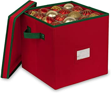 Ornament Storage Box Christmas Xmas Decors Heavy Duty 600D Inside PVC Material
