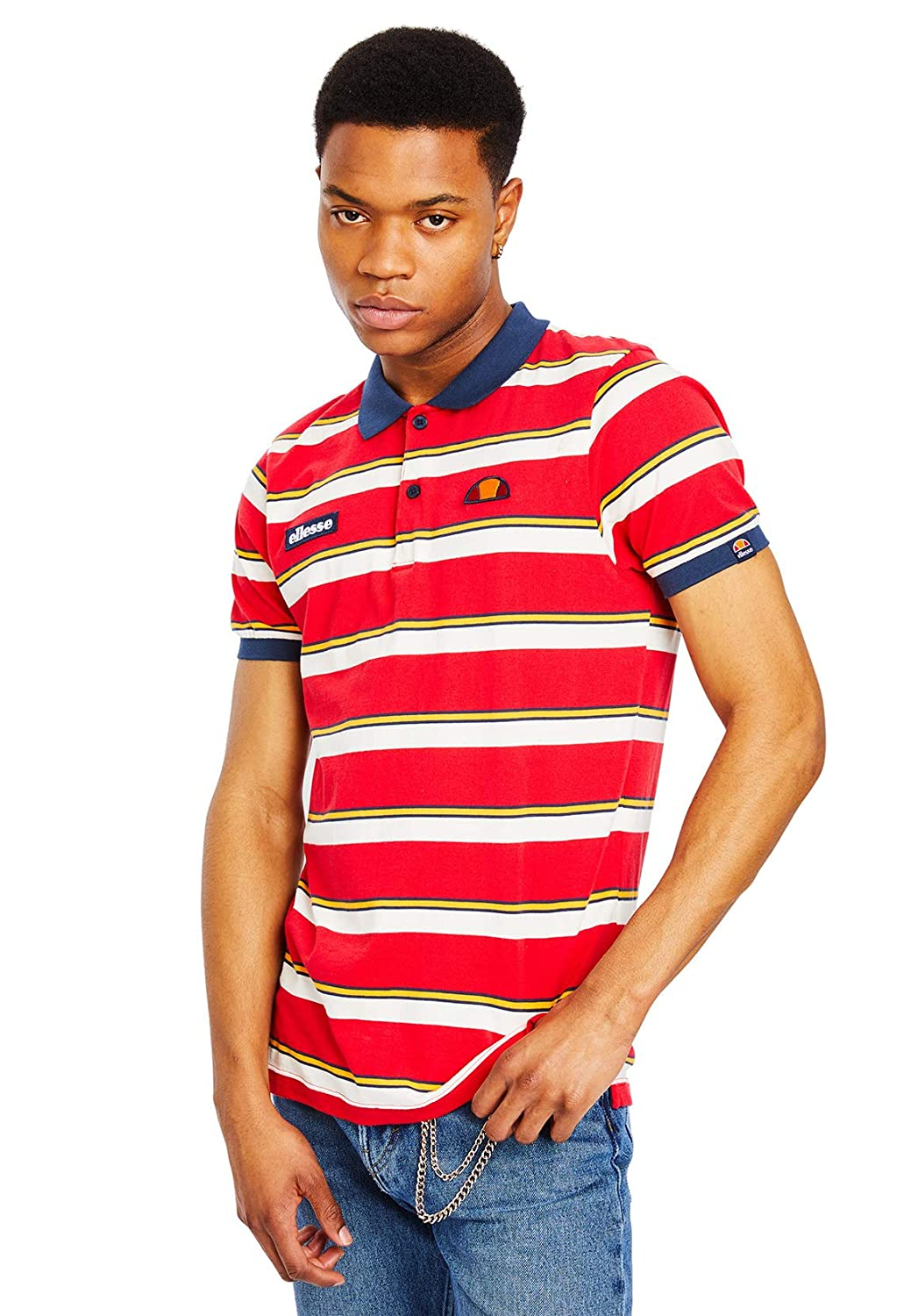 Ellesse Saca Polo Shirt Red: Amazon.es: Ropa y accesorios