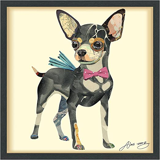 Hand Signed by Alex Zeng Framed Wall Art Empire Art Direct Doberman Pinscher
