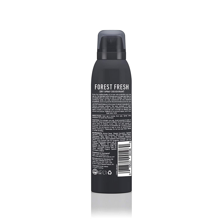 JASON Men's Forest Fresh Dry Spray Deodorant, 3 2 Ounce Bottle