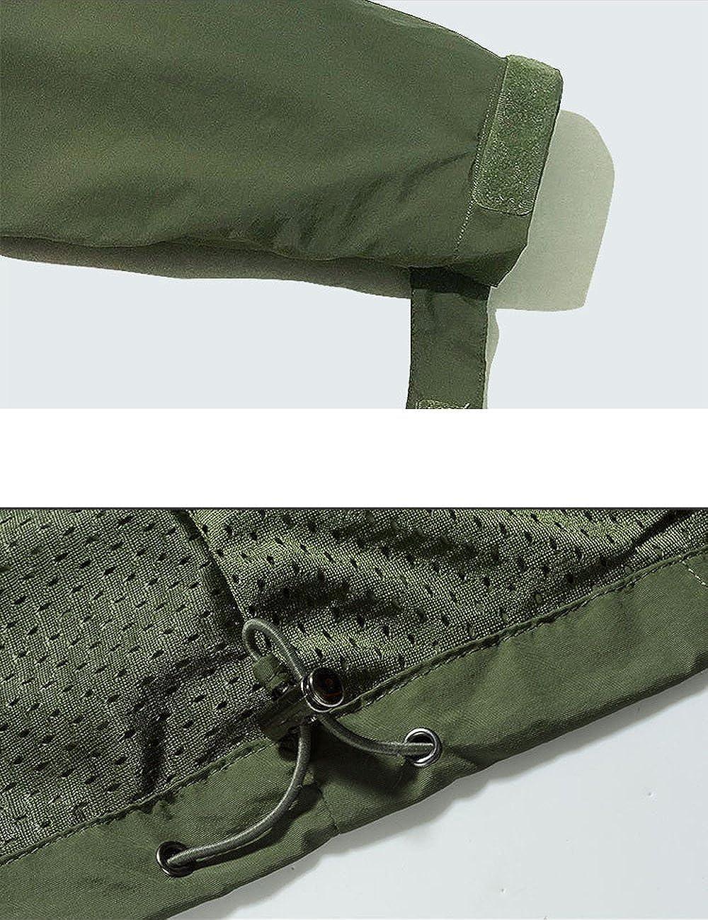 Micmall Sportswear Mens Hooded Softshell Outdoor Raincoat Waterproof Mountain Jacket