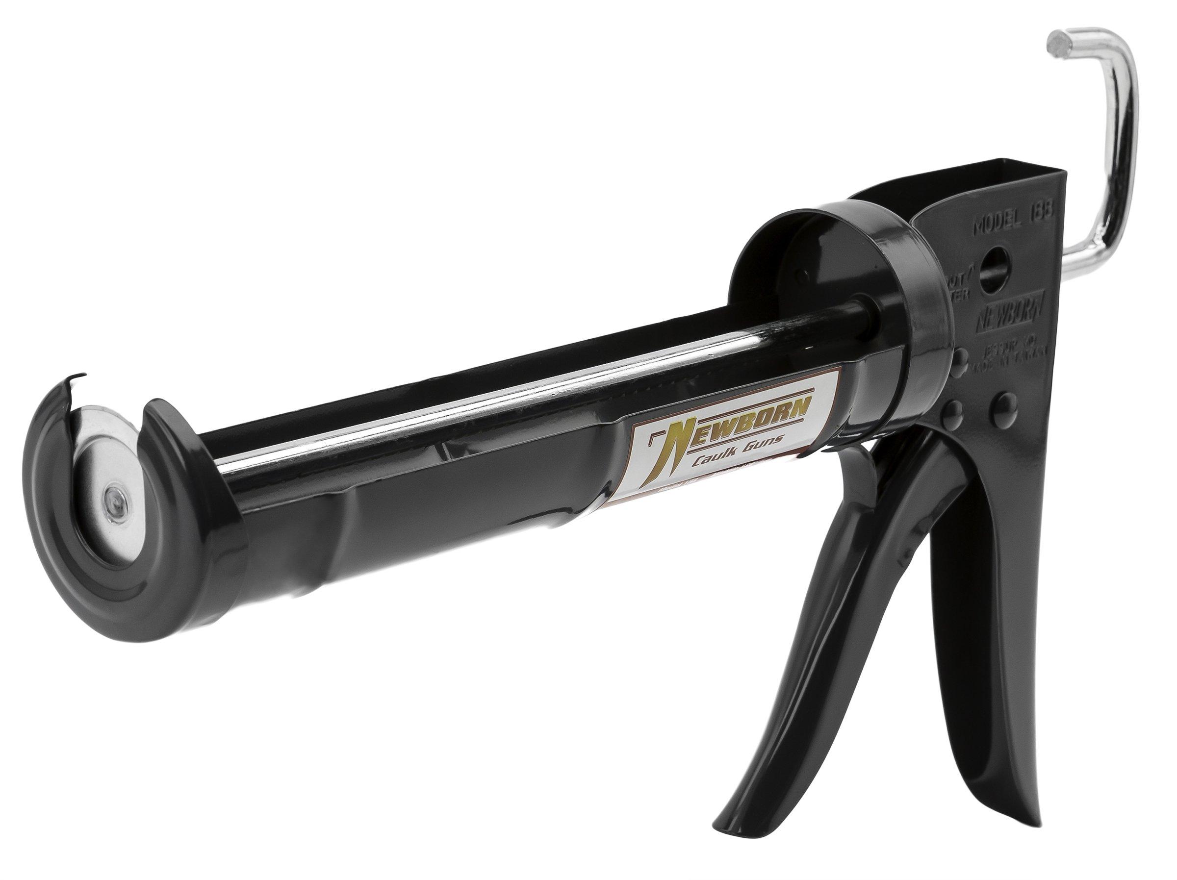 Newborn 188 Super Ratchet Rod Cradle Caulking Gun, 1/10 Gallon Cartridge, 6:1 Thrust Ratio