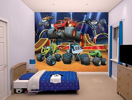 Walltastic Blaze And The Monster Machines Wallpaper Mural Multi Colour