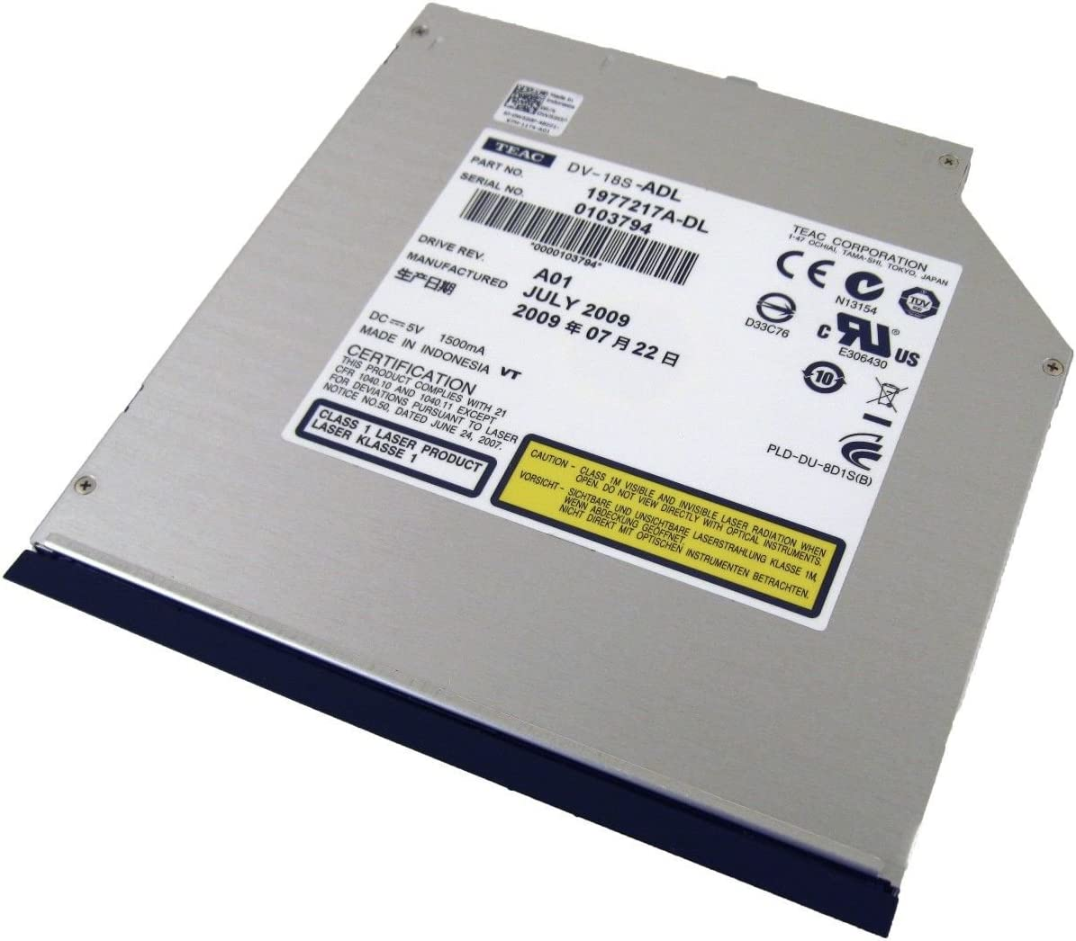 Dell DVD-ROM Drive DV-18S-ADL W520P Latitude E4300 E4310