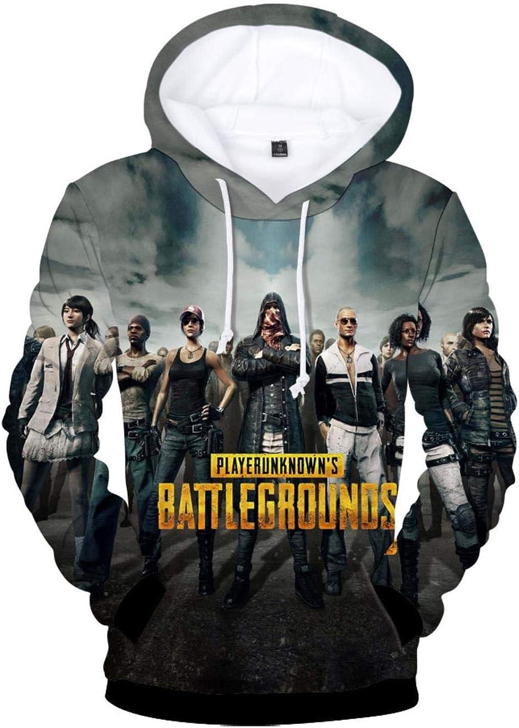 Playerunknown/'s Battleground Unisex Hoodie Jacket PUBG Sweater Coat Costume