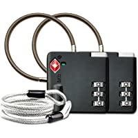 Aspen TSA Candados para equipaje de combinacion Seguridad Maleta Taquilla Candados Viaje Taquilla Lock eeuu con Cable de…