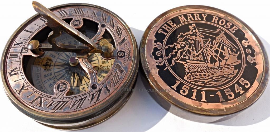 MAH This is Hand-Made Brass Sundial Compass. C-3048