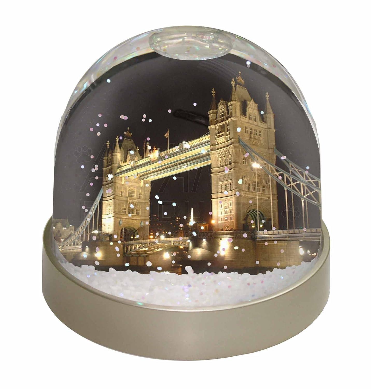 Advanta London Tower Bridge Print Photo Snow Globe Waterball Stocking Filler Gift, Multi-Colour, 9.2 x 9.2 x 8 cm Advanta Products