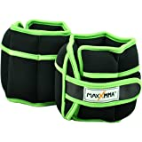 MaxxMMA 5 lbs Adjustable Neoprene Ankle Weights Pair, 2.5 lbs each