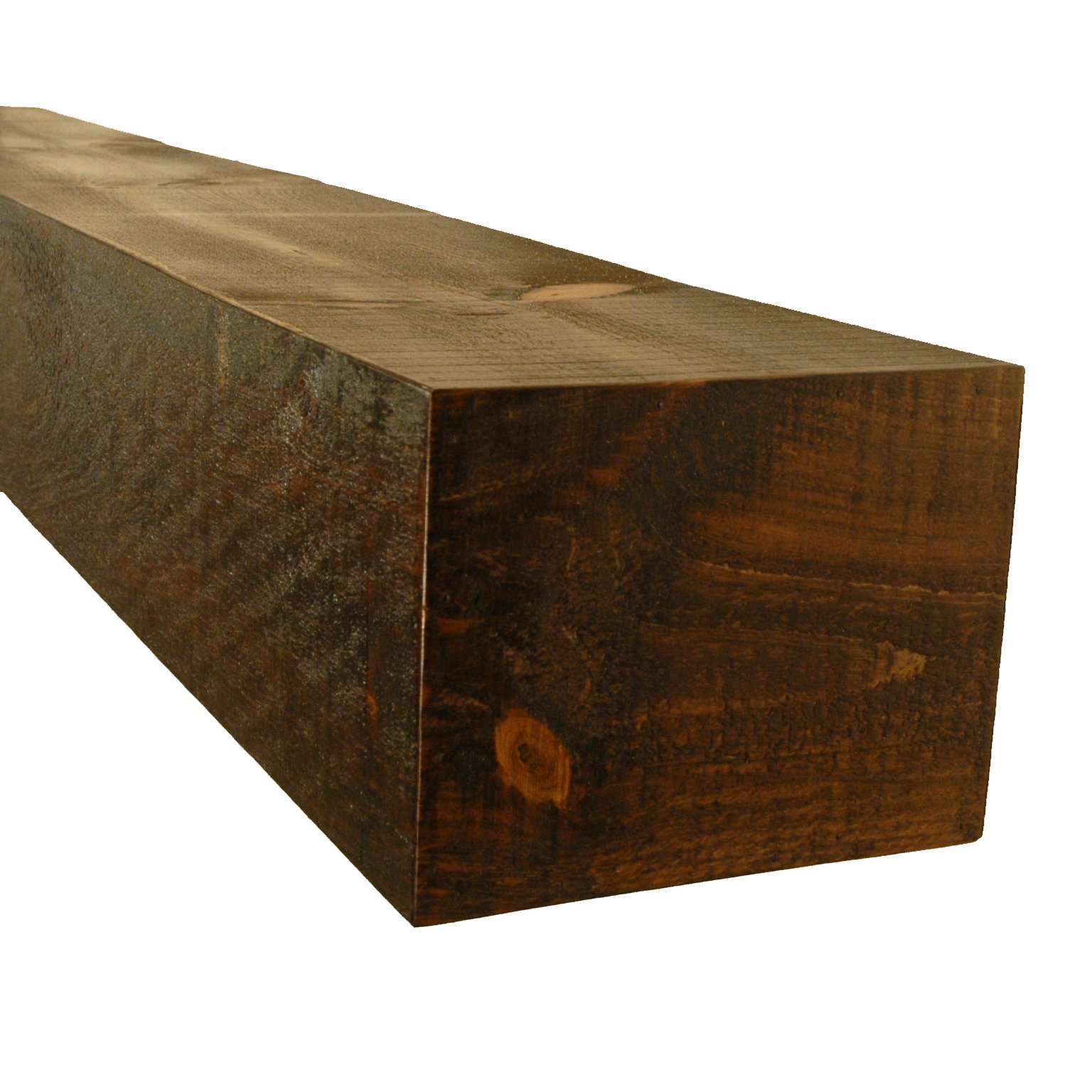 New England Classic 10'' Deep x 72'' Long Appalachian Rustic Wood Mantel Shelf in Antique Brown by New England Classic