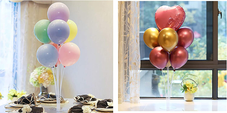/Tischtisch Inhaber Ballon Dekoration f/ür Geburtstagsparty Hochzeit Party Event 2 Pack LANGXUN Clear Balloon Stand Kit